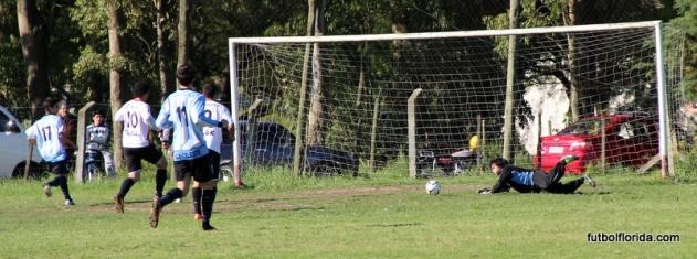 El balón se desvía hacia Aguirre