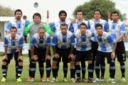 La última formación de Atletico Florida en su visita a Mendoza. Foto Fanny Ruetalo