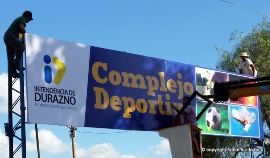 Cartel de acceso al Complejo Deportivo Municipal, Prensa IDD