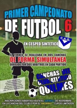 Continua el 1er Campeonato de Futbol 6 en elQuilmes