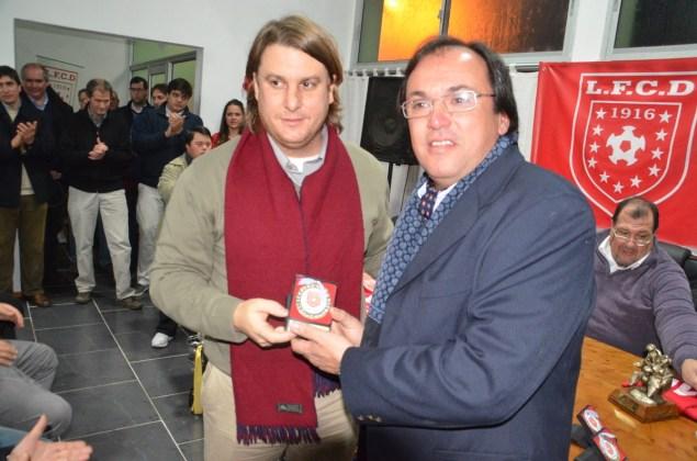 El Dr Hugo O´Neill será uno de los defensores de Durazno. En la foto junto a Gonzao Recuero ex Presidente