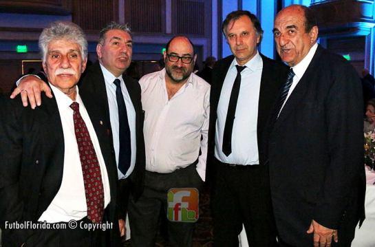 Jorge Suarez, Pablo Karslian, Victor H Castro, Jorge Benoit y Rafael Fernandez. Foto Fanny Ruetalo