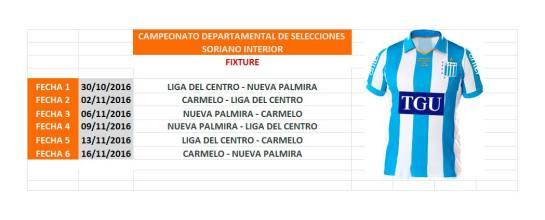 Fixture Departamental Selecciones de Soriano Interior
