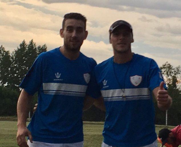Rodrigo Salvitano y Johann Dreher en Sub 15 de Quilmes