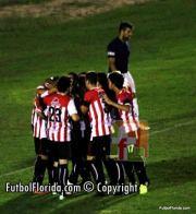 El festejo de la albirroja luego del gol de Labandeira