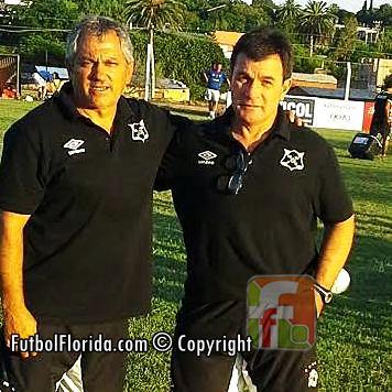 Los floridenses Jorge Giordano y el Prof Eduardo Arismendi. Foto Pedro Clavijo