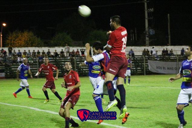 Pailos marcó el segundo gol de la noche. Foto Canelones Azulgrana