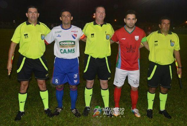 Coelho capitanes asistentes Bella Unión-Soriano. Foto Mauricio Alfonso