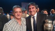 Juan Cabrera y Enzo Francescoli. Foto Marcos Vitette