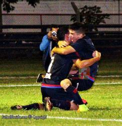 Diego Torres gran figura de Canelones autor del gol de la visita