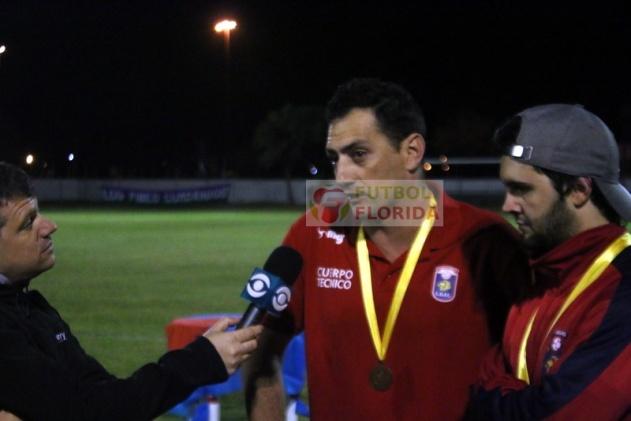 El DT Campeón, Palo Parolín y su ST Rodrigo Irazoqui