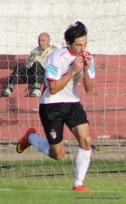Ramiro Cruz festeja el empate. Foto Fanny Ruetalo