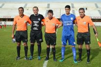 Garro, capitanes y asistentes. Foto Ramón Mesías