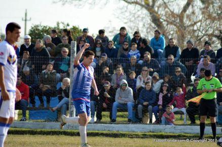 Matías Morales festeja su gol. Foto Ramon Mesías