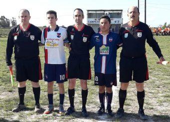 Gerardo Rotulo, Cesar Martinez, Mario Ortiz y capitanes. Foto Gustavo Facciola