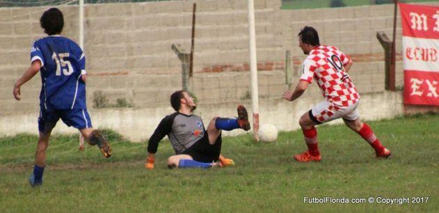 El gol de Ferreira . Foto Emilia Spinelli