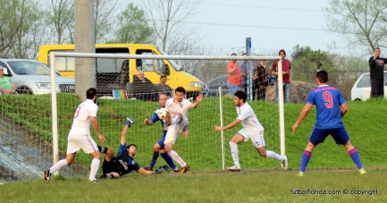 El 2do gol de Cayaffa. Foto Fanny Ruetalo