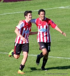 Vidart y Salazar, los goleadores de la tarde.