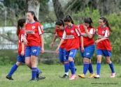 El día de la vuelta de Antonella que festeja con lágrimas su gol. Foto Fanny Ruetaalo