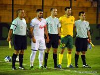 Fernando Martinez, Javier Soto, Fabricio Trezza y capitanes. Foto Ernesto Hornos