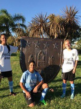 Nicole Callorda, Lucila Pulero y Lusmila Gimenez. Foto Micaela Gonzalez